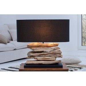 RIVERINE - II asztali lámpa - fekete Asztali lámpák