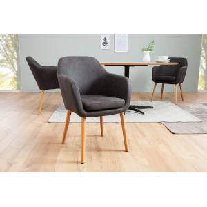 CANDIS design szék - vintage szürke Karfával