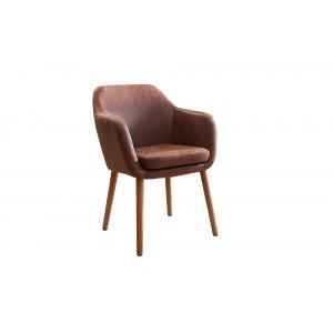 CANDIS design szék - vintage  barna Karfával