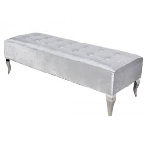 MODERN BAROCK ülőpad- ezüst/fekete -140cm Ülőbútor