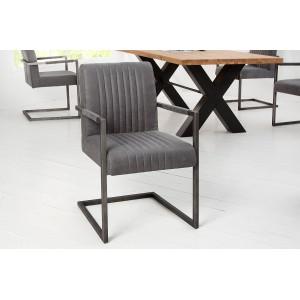 ASTON - II design szék - vintage szürke Karfával
