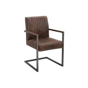 ASTON - II design szék - vintage barna Karfával