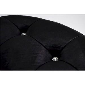 MADEMOSIELLE design puff - fekete Ülőbútor