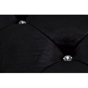 MODERN BAROCK-II  design puff - fekete Ülőbútor