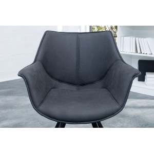 MATCH - II design szék - antracit Karfával