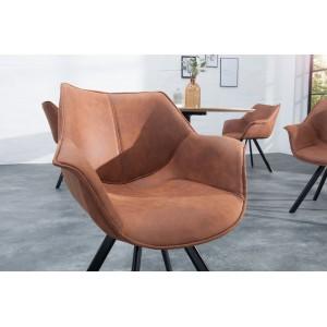 MATCH - II design szék - barna Karfával