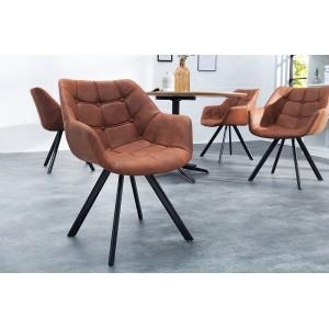 BUTTON design szék - barna Karfával