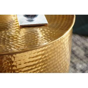 BARREL orientális design alumínium dohányzóasztal - arany Dohányzóasztalok