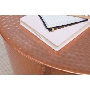 BARREL orientális design alumínium dohányzóasztal - réz Dohányzóasztalok