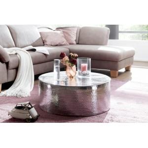 CAN orientális design alumínium dohányzóasztal - ezüst Dohányzóasztalok