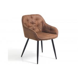 LAVELLO design szék - antik barna Karfával