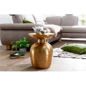 DELYA alumínium lerakóasztal - arany Asztal