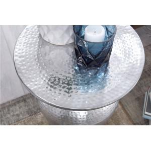 DELYA alumínium lerakóasztal - ezüst Asztal