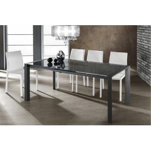 MARINA bővíthető design étkezőasztal - antracit Étkezőasztalok