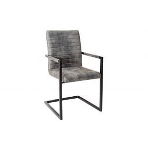 IMPERIAL design szék - vintage szürke Karfával