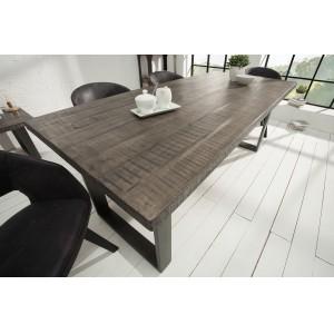 CRAFTER tömör mangófa étkezőasztal - 160/180/200cm - szürke Étkezőasztalok