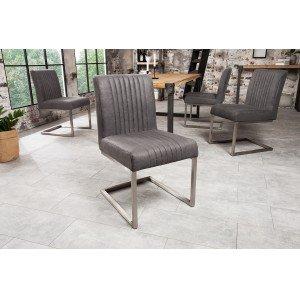 ASTON modern szék - vintage szürke Karfa nélkül