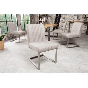 ASTON modern szék - világosszürke Karfa nélkül