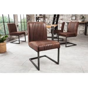 ASTON - II modern szék - vintage barna Karfa nélkül