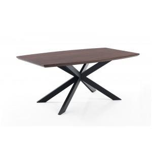 SAVONA bővíthető diófa design étkezőasztal Étkezőasztalok