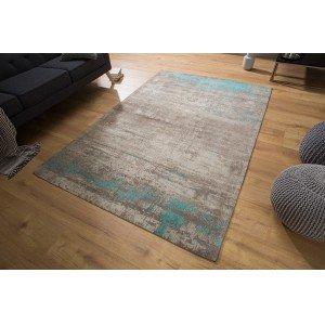 ERODE modern szőnyeg - szürke/türkiz Szőnyegek