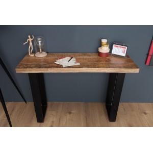 CRAFTER tömör mangófa konzolasztal - 115cm Asztal