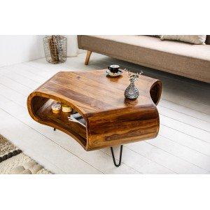 CAMBER tömör rózsafa dohányzóasztal - 90cm Dohányzóasztalok