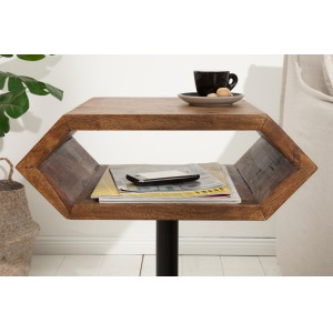 HEXAGONAL tömör rózsafa lerakóasztal Asztal