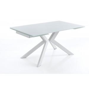 EVOLUTION bővíthető üveg design étkezőasztal Étkezőasztalok