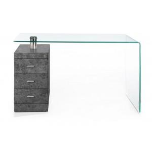 CIVITA modern üveg/beton design íróasztal Íróasztalok
