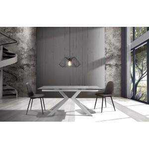 GEOMETRICHE mintás design szék - szürke