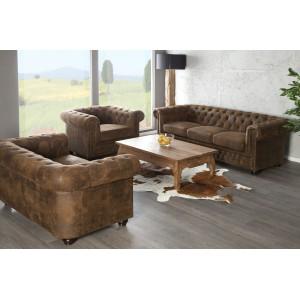 CHESTER design 2 személyes kanapé - antik kávé Ülőbútor