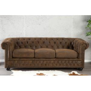 CHESTER design 3 személyes kanapé - antik kávé Ülőbútor