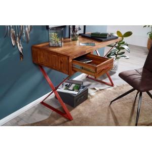 THOLAR tömör rózsafa íróasztal - 118cm Íróasztalok