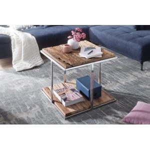 JACK rusztikus fa dohányzóasztal - 61cm Dohányzóasztalok