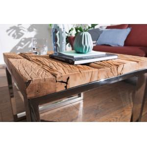 JACK rusztikus fa dohányzóasztal - 60cm Dohányzóasztalok