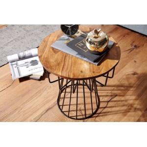 HARLEM modern rózsafa lerakóasztal - 47cm Asztal