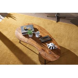 ELMO tömör rózsafa dohányzóasztal - 122cm Dohányzóasztalok