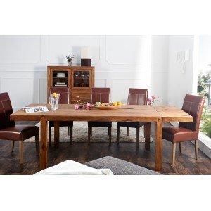 LAGOS tömör rózsafa étkezőasztal - 160-240cm Étkezőasztalok