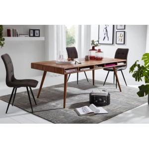 INDAUR tömör rózsafa design étkezőasztal Étkezőasztalok