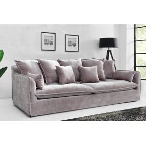 HEAVEN modern 3 személyes kanapé - szürke bársony - 210cm Ülőbútor