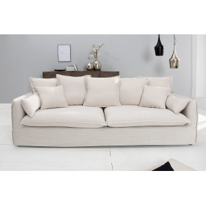 HEAVEN modern 3 személyes kanapé - beige - 215cm Ülőbútor