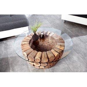 LOTUS design teakfa dohányzóasztal - 70cm Dohányzóasztalok