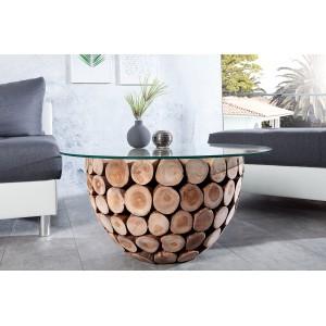 LOTUS design teakfa dohányzóasztal - 70cm