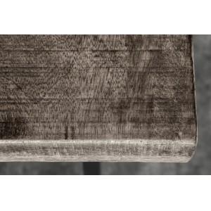 CRAFTER tömör mangófa bárasztal- szürke