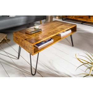 MANGIFERA-II tömör mangófa dohányzóasztal - 100cm Dohányzóasztalok