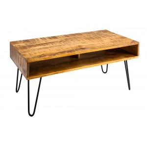 MANGIFERA-II tömör mangófa dohányzóasztal - 100cm