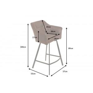 BERNARD design bárszék -  antik barna