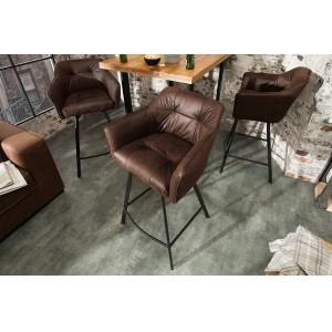 BERNARD design bárszék -  antik barna Ülőbútor