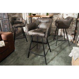 BERNARD design bárszék - tóp szürke Ülőbútor